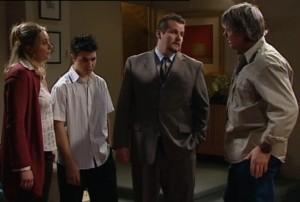 Janelle Timmins, Stingray Timmins, Toadie Rebecchi, Joe Mangel in Neighbours Episode 4839
