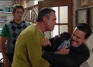 Karl Kennedy, Paul Robinson, Ned Parker in Neighbours Episode 4840