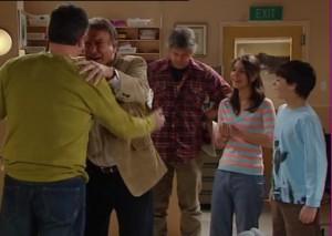 Karl Kennedy, Alex Kinski, Joe Mangel, Rachel Kinski, Zeke Kinski in Neighbours Episode 4840