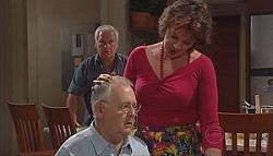 Lou Carpenter, Harold Bishop, Mishka Schneiderova in Neighbours Episode 4980