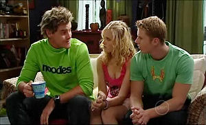 Ned Parker, Janae Timmins, Boyd Hoyland in Neighbours Episode 4981