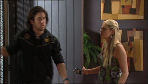 Dylan Timmins, Sky Mangel in Neighbours Episode 5049