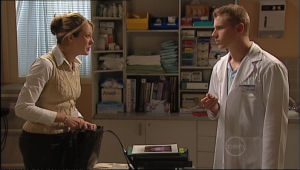 Dr Sally Herbert, Boyd Hoyland in Neighbours Episode 5050