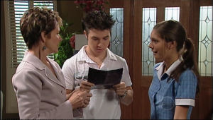 Susan Kennedy, Stingray Timmins, Rachel Kinski in Neighbours Episode 5050