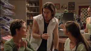 Susan Kennedy, Dylan Timmins, Rachel Kinski in Neighbours Episode 5054