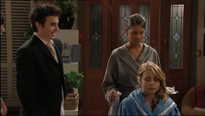 Anne Baxter, Rachel Kinski, Stingray Timmins in Neighbours Episode 5055
