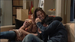 Janae Hoyland, Dylan Timmins, Stingray Timmins in Neighbours Episode 5060