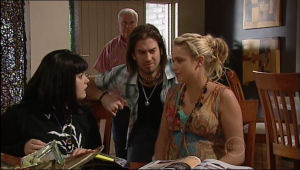 Bree Timmins, Dylan Timmins, Sky Mangel, Lou Carpenter in Neighbours Episode 5064