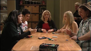 Bree Timmins, Stingray Timmins, Janelle Timmins, Janae Hoyland, Dylan Timmins in Neighbours Episode 5065