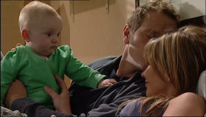 Charlie Hoyland, Max Hoyland, Steph Scully in Neighbours Episode 5075