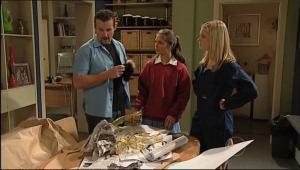 Toadie Rebecchi, Rachel Kinski, Janae Timmins in Neighbours Episode 5083