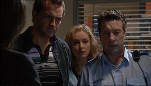 Will Griggs, Janelle Timmins, Allan Steiger in Neighbours Episode 5088
