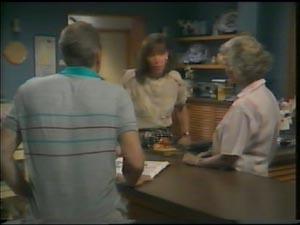 Jim Robinson, Helen Daniels, Maria Ramsay in Neighbours Episode 0002