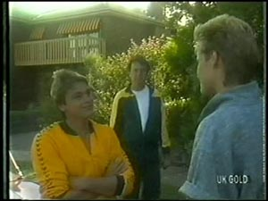 Shane Ramsay, Max Ramsay, Daphne Clarke in Neighbours Episode 0005
