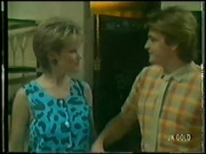 Daphne Clarke, Shane Ramsay in Neighbours Episode 0008