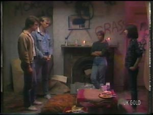 Paul Robinson, Father Kevin Barry, Sonia, Kim Taylor in Neighbours Episode 0009