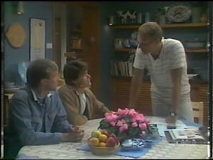 Father Kevin Barry, Paul Robinson, Jim Robinson in Neighbours Episode 0009