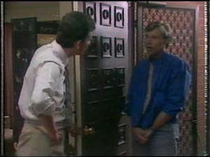 Des Clarke, Father Kevin Barry in Neighbours Episode 0009