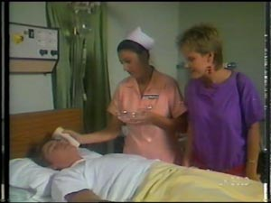 Shane Ramsay, Nurse Stevens, Daphne Lawrence in Neighbours Episode 0011