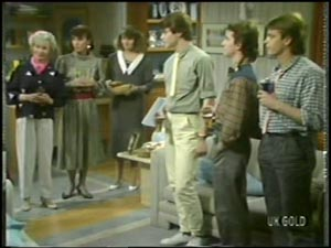 Helen Daniels, Maria Ramsay, Julie Robinson, Scott Robinson, Danny Ramsay, Shane Ramsay in Neighbours Episode 0097