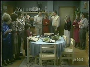 Joan Langdon, Terry Inglis, Des Clarke, Jim Robinson, Daphne Lawrence, Maria Ramsay, Helen Daniels, Lucy Robinson, Paul Robinson, Shane Ramsay in Neighbours Episode 0097