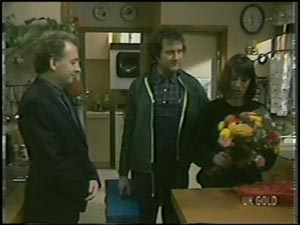 Richard Morrison, Max Ramsay, Maria Ramsay in Neighbours Episode 0098