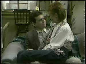 Des Clarke, Joan Langdon in Neighbours Episode 0099