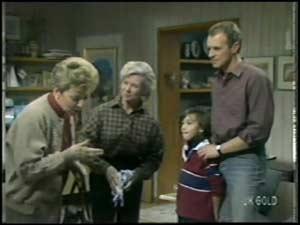 Eileen Clarke, Helen Daniels, Lucy Robinson, Jim Robinson in Neighbours Episode 0100
