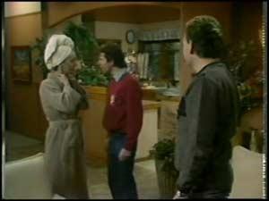 Maria Ramsay, Danny Ramsay, Richard Morrison in Neighbours Episode 0101
