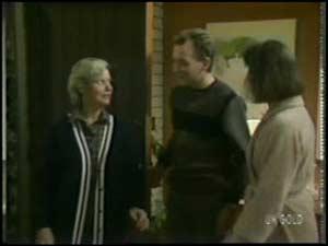 Helen Daniels, Richard Morrison, Maria Ramsay in Neighbours Episode 0101