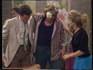 Paul Robinson, Shane Ramsay, Charlene Mitchell in Neighbours Episode 0409