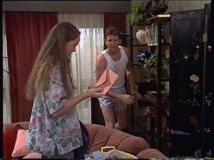 Des Clarke, Kelly Morgan in Neighbours Episode 0411