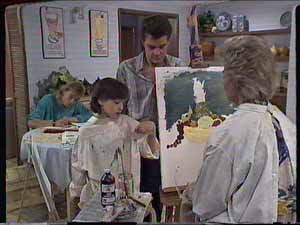 Scott Robinson, Lucy Robinson, Paul Robinson, Helen Daniels in Neighbours Episode 0414