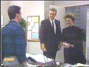 Paul Robinson, Glen Matheson, Gail Robinson in Neighbours Episode 0583