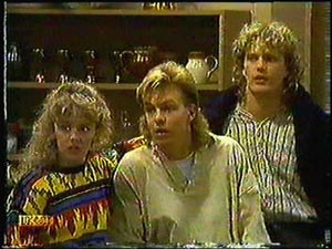 Henry Ramsay, Scott Robinson, Charlene Mitchell in Neighbours Episode 0594