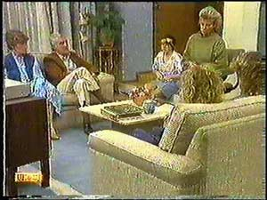 Mrs Wright, Kenneth Muir, Lucy Robinson, Helen Daniels, Henry Ramsay, Charlene Mitchell in Neighbours Episode 0597