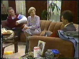 Harold Bishop, Eileen Clarke, Des Clarke in Neighbours Episode 0599