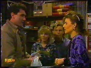 Greg Cooper, Charlene Robinson, Scott Robinson, Gail Robinson in Neighbours Episode 0601