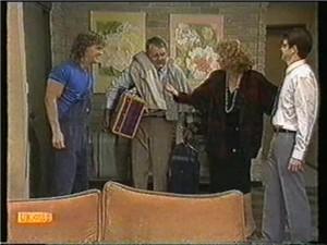 Henry Ramsay, Harold Bishop, Madge Bishop, David Bishop in Neighbours Episode 0734
