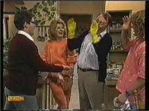 David Bishop, Madge Bishop, Harold Bishop, Henry Ramsay in Neighbours Episode 0735
