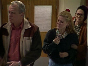 Jim Robinson, Phoebe Bright, Dorothy Burke in Neighbours Episode 1721