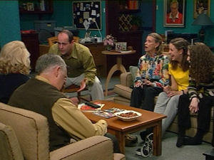 Harold Bishop, Madge Bishop, Philip Martin, Helen Daniels, Hannah Martin, Debbie Martin in Neighbours Episode 2965