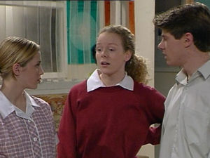 Amy Greenwood, Jacinta Myers, Lance Wilkinson in Neighbours Episode 2965