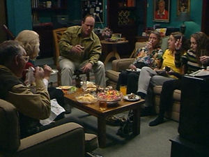 Philip Martin, Madge Bishop, Harold Bishop, Debbie Martin, Hannah Martin, Helen Daniels in Neighbours Episode 2965