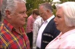 Lou Carpenter, Harold Bishop, Rosie Hoyland in Neighbours Episode 4214