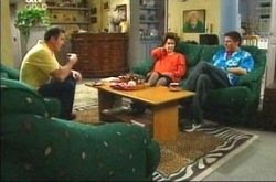 Karl Kennedy, Lyn Scully, Joe Scully in Neighbours Episode 4216