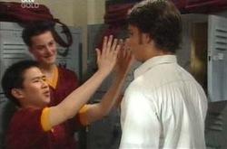 Simon Ferguson, Taj Coppin in Neighbours Episode 4217
