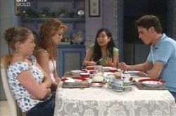 Michelle Scully, Nina Tucker, Lori Lee, Jack Scully in Neighbours Episode 4217