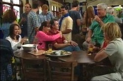 Libby Kennedy, Susan Kennedy, Karl Kennedy, Lou Carpenter  Boyd Hoyland in Neighbours Episode 4220