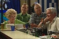 Valda Sheergold, Max Hoyland, Harold Bishop, Lou Carpenter in Neighbours Episode 4225